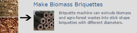 make biomass briquettes