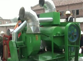 peanut shelling machine green