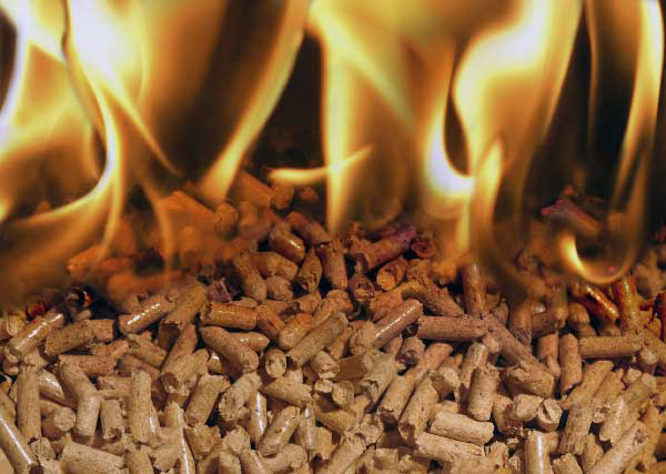 pellets burning
